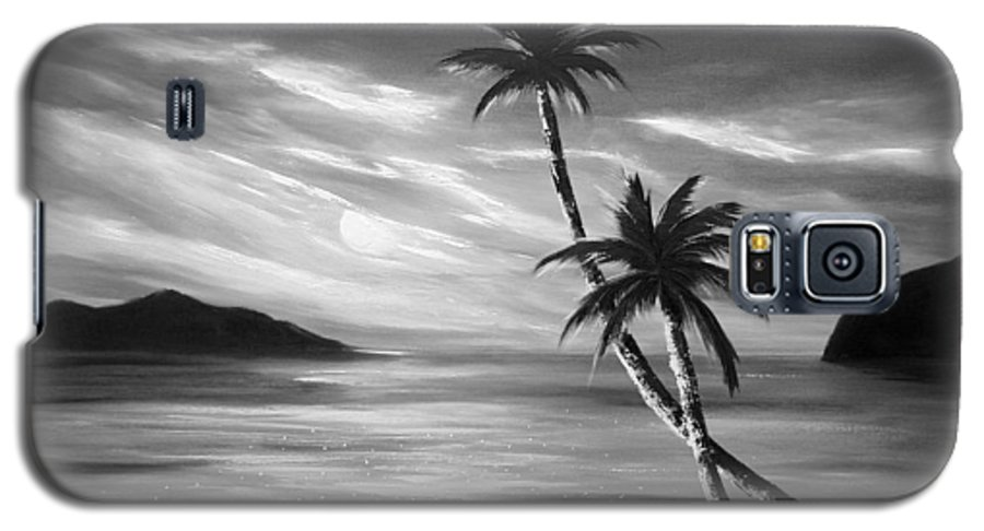 Sunset Galaxy S5 Case featuring the painting Sunset In Paradise by Gina De Gorna
