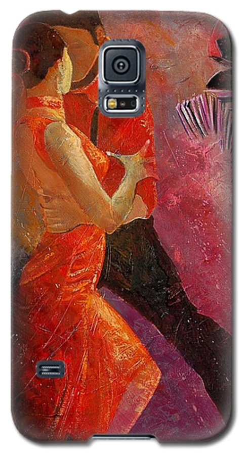 Tango Galaxy S5 Case featuring the painting Tango by Pol Ledent
