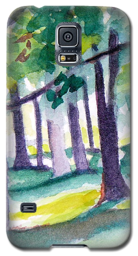 Nature Galaxy S5 Case featuring the painting The Perfect Day by Jan Bennicoff