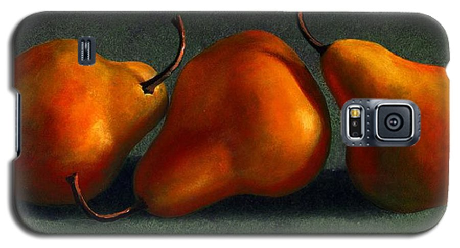 Still Life Galaxy S5 Case featuring the painting Three Golden Pears by Frank Wilson