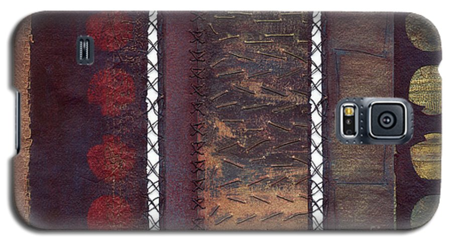 3panel Galaxy S5 Case featuring the painting Three Panel Transitional Page Format by Kerryn Madsen- Pietsch