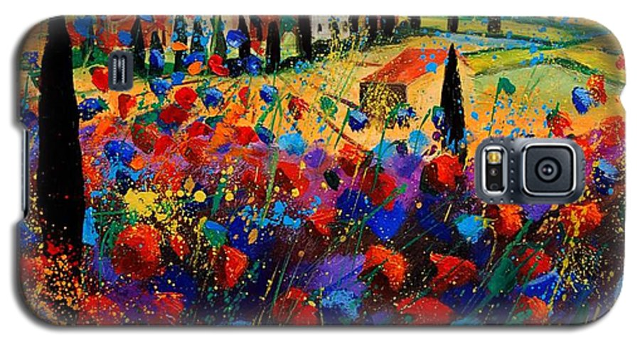 Flowers Galaxy S5 Case featuring the painting Tuscany Poppies by Pol Ledent