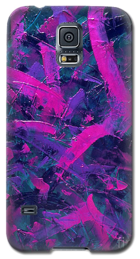 Abstract Galaxy S5 Case featuring the painting Untitled by Dean Triolo
