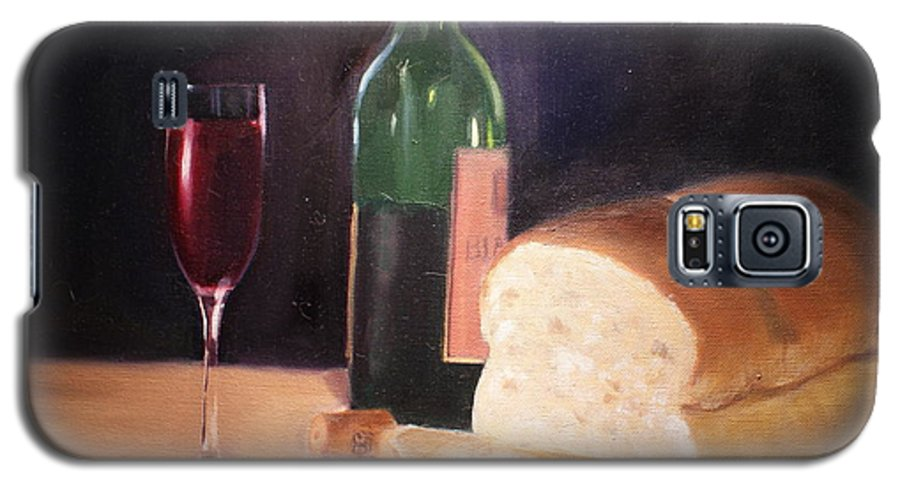 Wine Galaxy S5 Case featuring the painting Untitled by Toni Berry