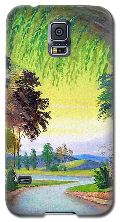 Landscape Galaxy S5 Case featuring the painting Verde Que Te Quero Verde by Leomariano artist BRASIL