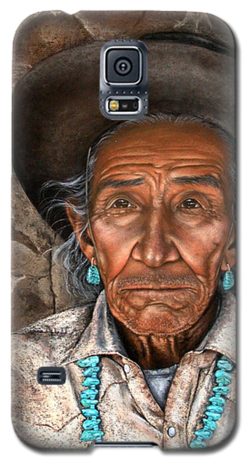 People Galaxy S5 Case featuring the painting Vision Of The Past by Deb Owens-Lowe