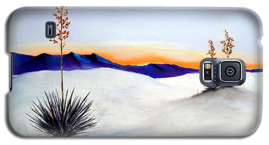 White Sands Galaxy S5 Case featuring the painting White Sands by Melinda Etzold
