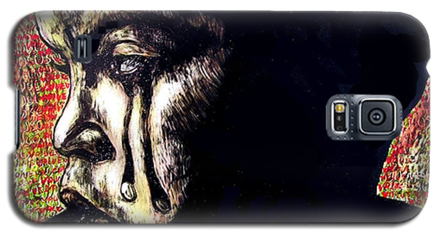 Galaxy S5 Case featuring the mixed media 1140 by Chester Elmore