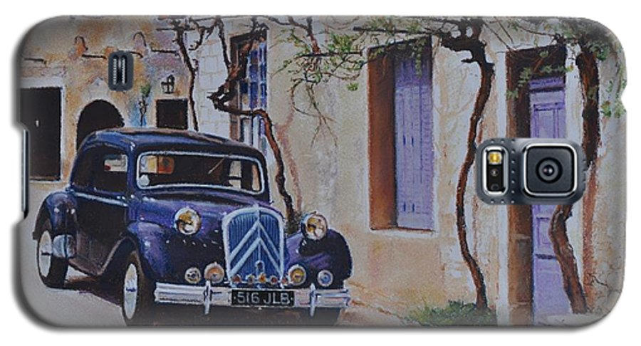 Classic Cars Galaxy S5 Case featuring the pastel 1951's Citroen by Iliyan Bozhanov