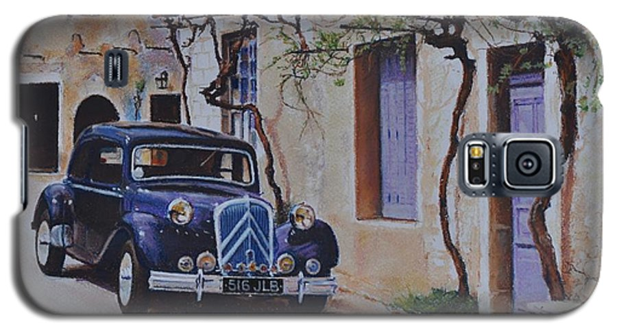 Classic Cars Galaxy S5 Case featuring the painting 1951's Citroen by Iliyan Bozhanov