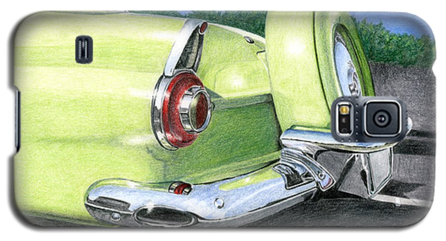 Classic Galaxy S5 Case featuring the drawing 1956 Ford Thunderbird by Rob De Vries
