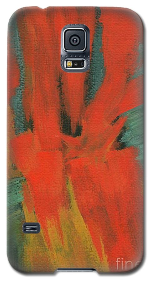 Abstract Galaxy S5 Case featuring the painting A Moment In Time by Itaya Lightbourne