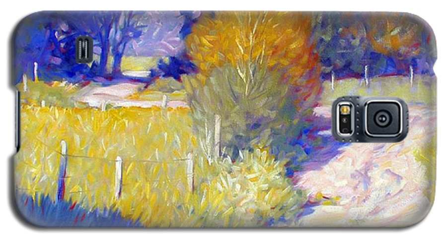 Landscape Galaxy S5 Case featuring the painting Back Road by Kevin Lawrence Leveque