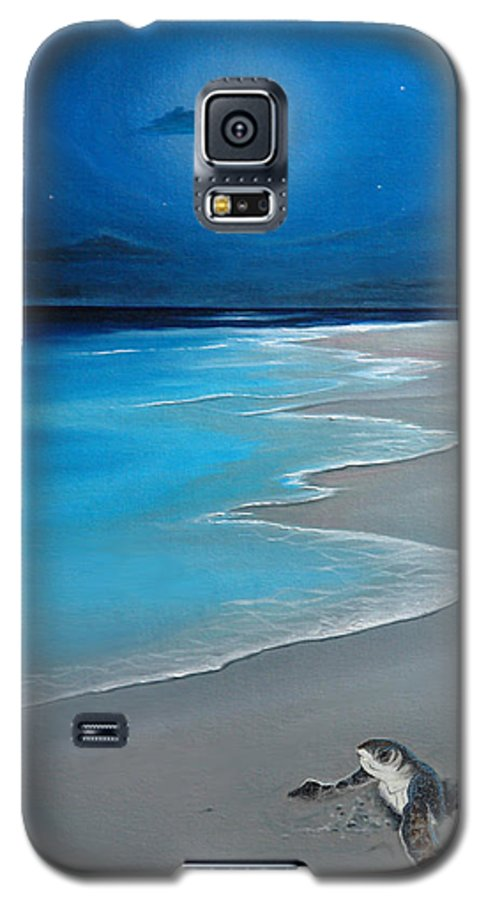 Seascape Art Galaxy S5 Case featuring the painting First Born by Angel Ortiz