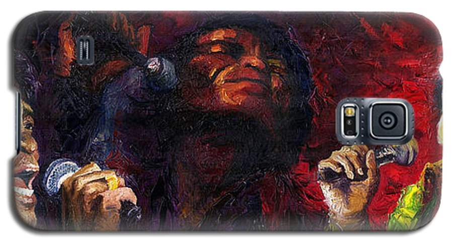 Jazz Galaxy S5 Case featuring the painting Jazz James Brown by Yuriy Shevchuk