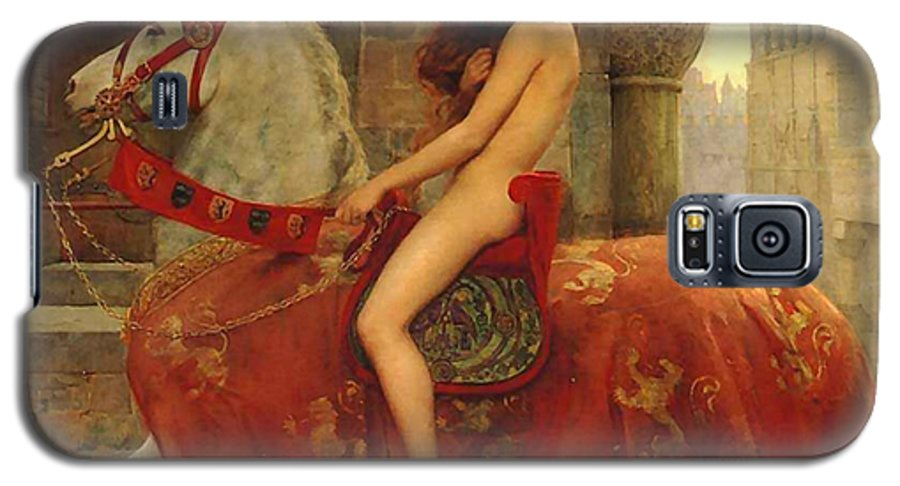 Lady Galaxy S5 Case featuring the painting Lady Godiva by John Collier