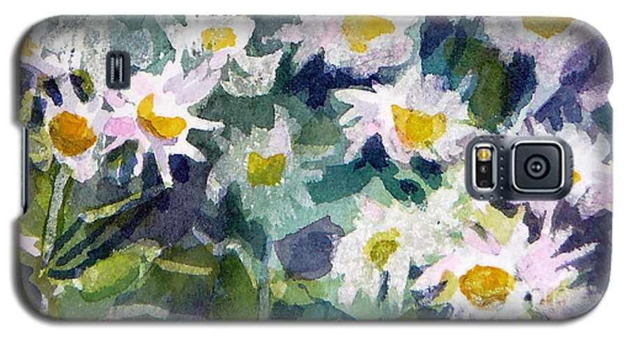 Flowers Galaxy S5 Case featuring the painting Little Asters by Jan Bennicoff