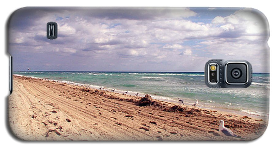 Beaches Galaxy S5 Case featuring the photograph Miami Beach by Amanda Barcon