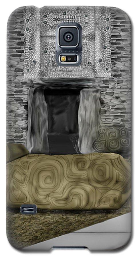 Newgrange Galaxy S5 Case featuring the painting Newgrange Ireland by Anne Norskog