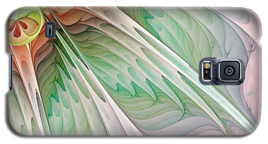 Digital Art Galaxy S5 Case featuring the digital art Petals by Amanda Moore