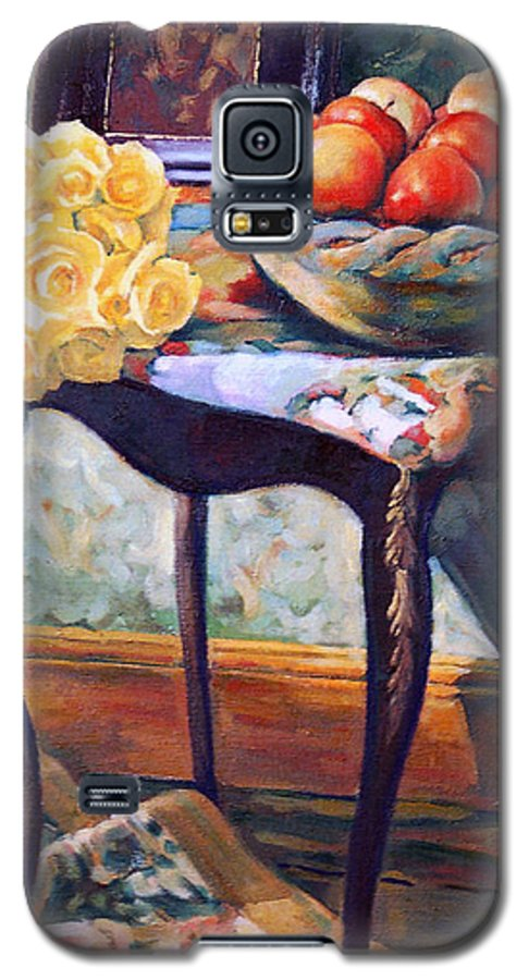Still Life Galaxy S5 Case featuring the painting Still Life With Roses by Iliyan Bozhanov