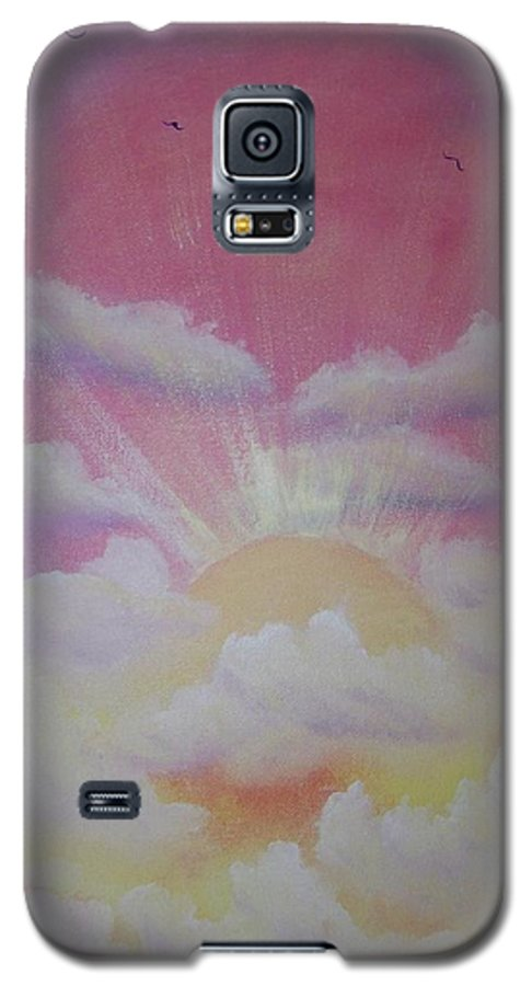 Bird Galaxy S5 Case featuring the painting The Ascension by Laurie Kidd