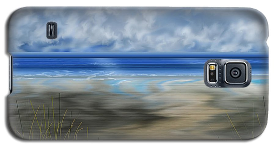 Anne Norskog Galaxy S5 Case featuring the painting The Road Less Travelled by Anne Norskog