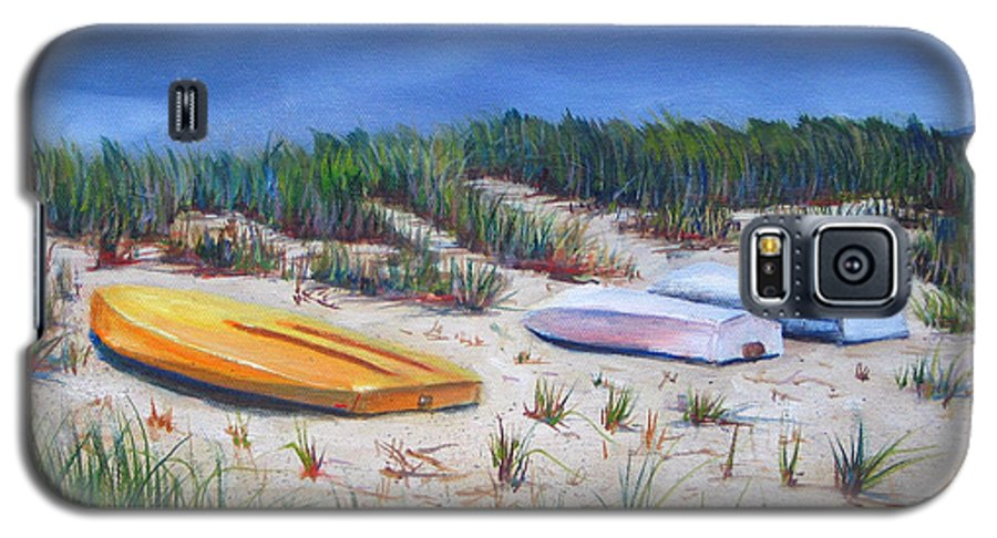 Cape Cod Galaxy S5 Case featuring the painting 3 Boats by Paul Walsh