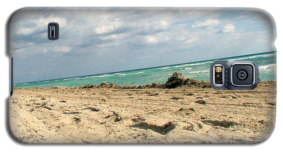 Miami Galaxy S5 Case featuring the photograph Miami Beach by Amanda Barcon