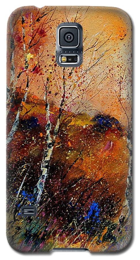 River Galaxy S5 Case featuring the painting 3 Poplars by Pol Ledent