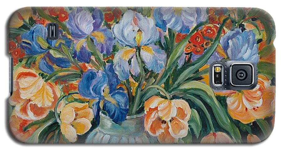 Still Life Galaxy S5 Case featuring the painting Tulips by Alexandra Maria Ethlyn Cheshire