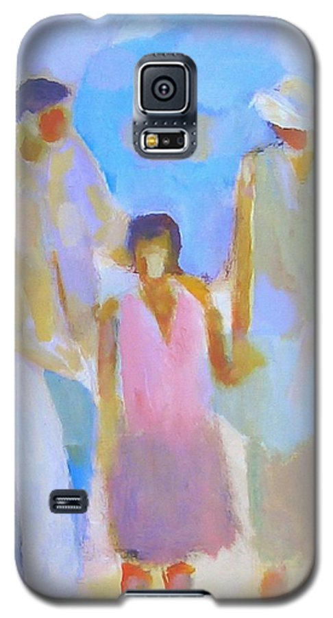 Abstract Galaxy S5 Case featuring the painting 3 With Love by Habib Ayat