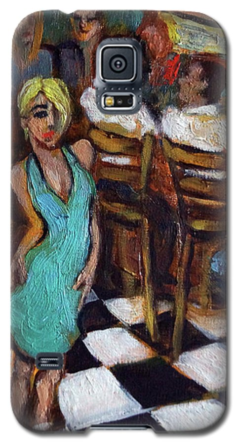 Restaurant Galaxy S5 Case featuring the painting 32 East by Valerie Vescovi