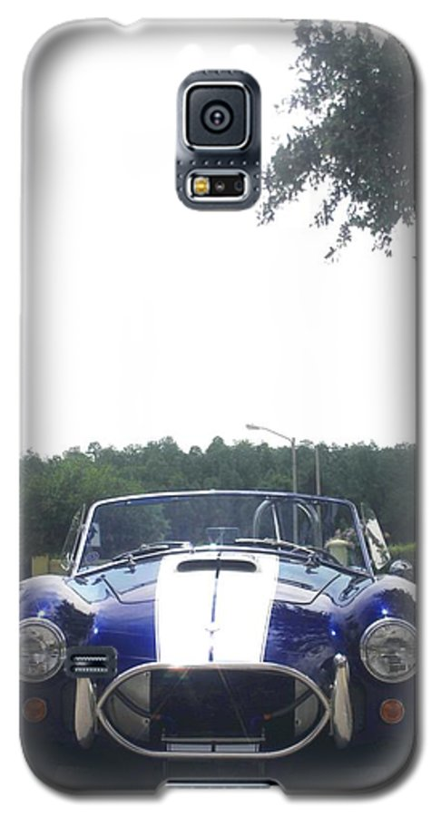 Speed Galaxy S5 Case featuring the photograph 427 Cobra Side Oiler by Margaret Fortunato