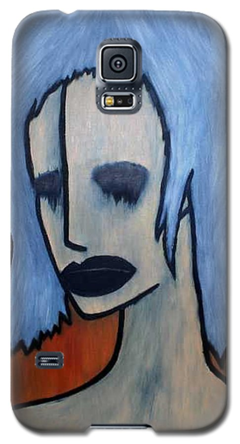 Potrait Galaxy S5 Case featuring the painting Halloween by Thomas Valentine