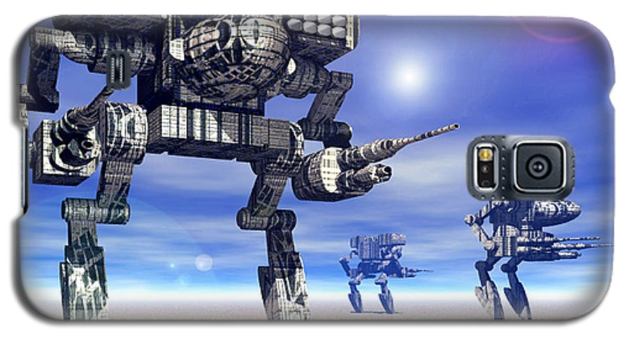 Science Fiction Galaxy S5 Case featuring the digital art 501st Mech Trinary by Curtiss Shaffer