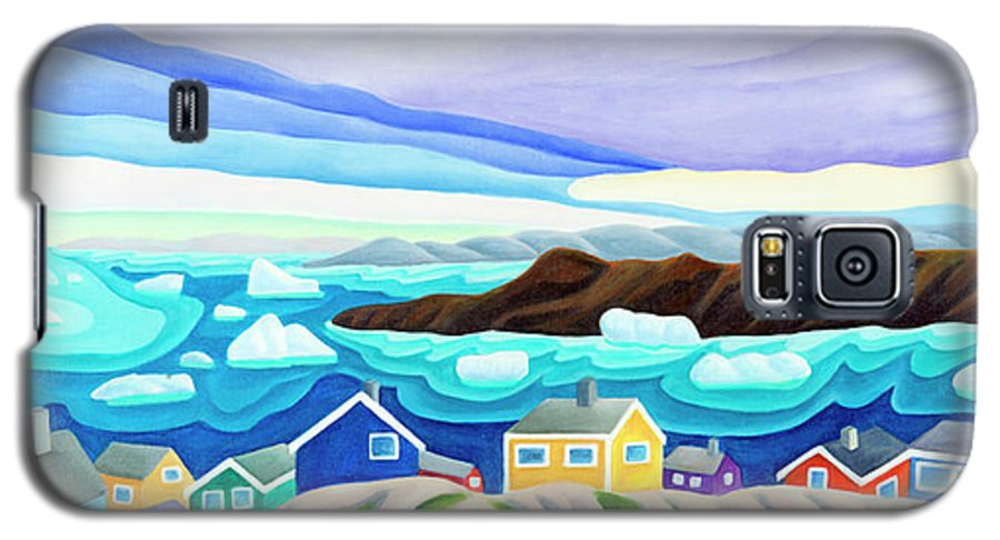 Arctic Landscape. Greenland Galaxy S5 Case featuring the painting 69 Degrees 13 Minutes North by Lynn Soehner