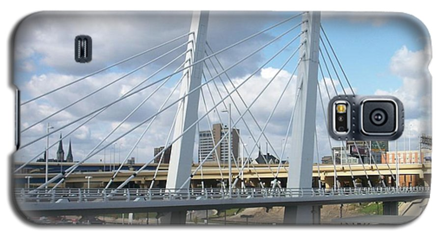 Bridge Galaxy S5 Case featuring the photograph 6th Street Bridge by Anita Burgermeister