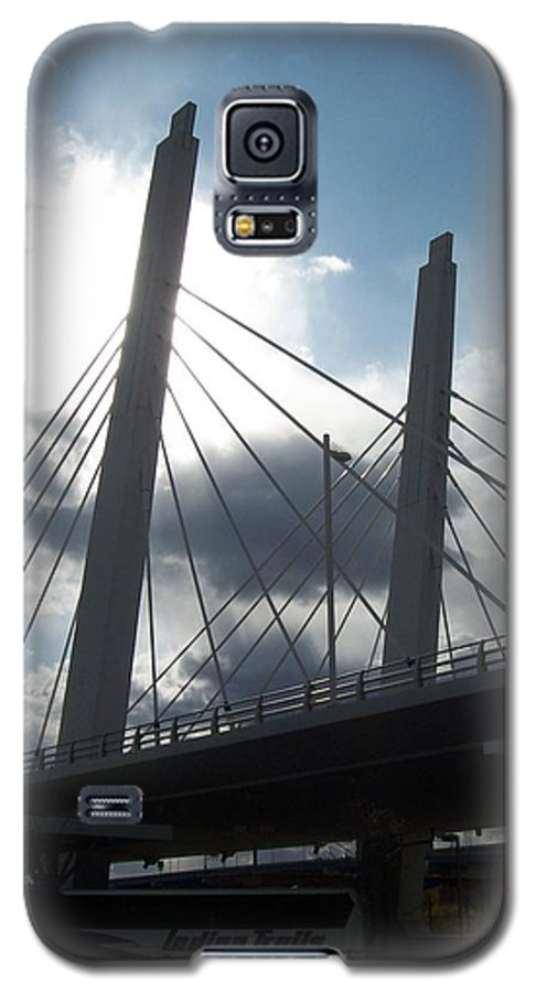 Bridge Galaxy S5 Case featuring the photograph 6th Street Bridge Backlit by Anita Burgermeister