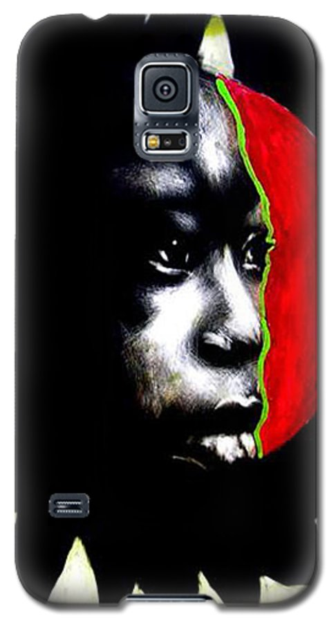 Galaxy S5 Case featuring the mixed media 70 Sunshine by Chester Elmore