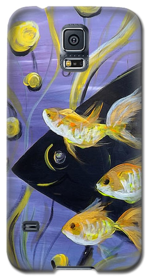 Fish Galaxy S5 Case featuring the painting 8 Gold Fish by Gina De Gorna