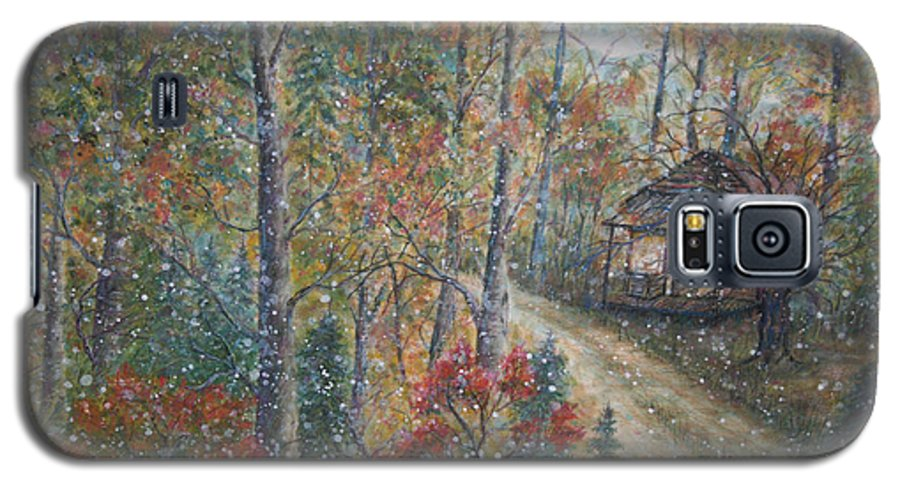 Country Road; Old House; Trees Galaxy S5 Case featuring the painting A Bend In The Road by Ben Kiger