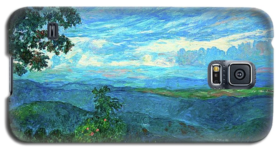 Mountains Galaxy S5 Case featuring the painting A Break In The Clouds by Kendall Kessler