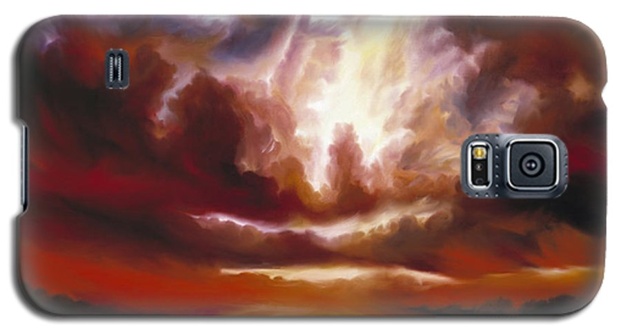 Tempest Galaxy S5 Case featuring the painting A Cosmic Storm - Genesis V by James Christopher Hill