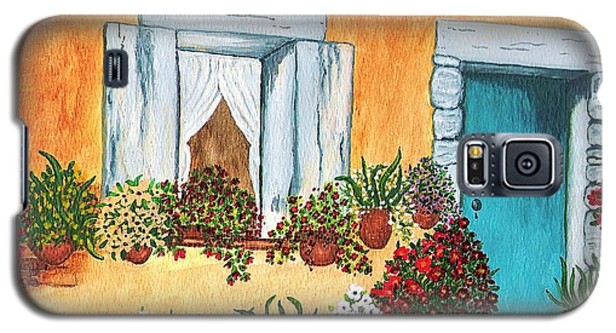 Watercolor Painting Galaxy S5 Case featuring the painting A Cottage In The Village by Patricia Griffin Brett