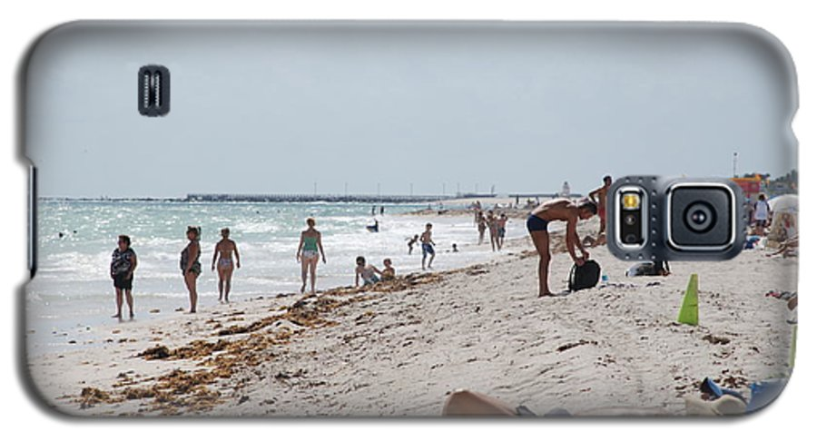 Nude Galaxy S5 Case featuring the photograph A Day At Paradise Beach by Rob Hans