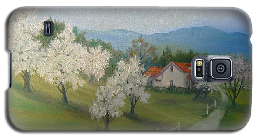 Landscape; Spring; Mountains; Country Road; House Galaxy S5 Case featuring the painting A Day In The Country by Ben Kiger