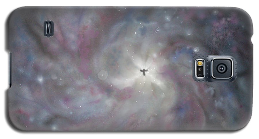 Space Galaxy S5 Case featuring the painting A Galaxy Centre by Mike Moss