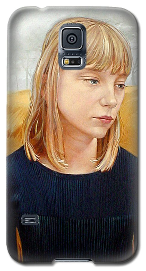 Girl Galaxy S5 Case featuring the painting A Gang Of Crows by Jerrold Carton
