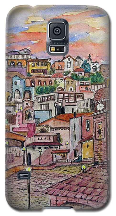 Townscape Galaxy S5 Case featuring the painting A Little Town In France by Patricia Arroyo